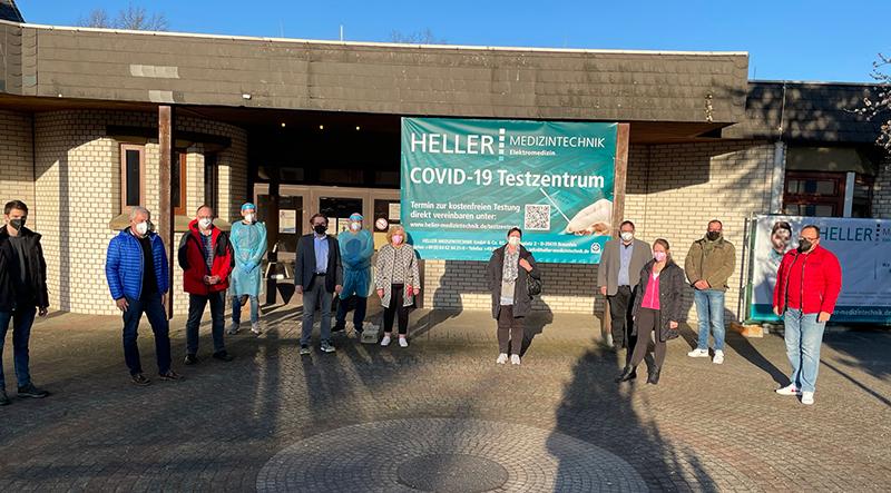 CDU vor Ort: Besuch der Stadtverordetenfraktion im Testzentrum