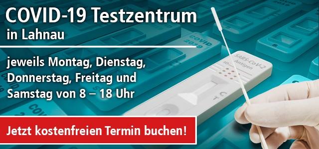 Ab dem 10.05.21: COVID-19 Testzentrum in Lahnau-Dorlar