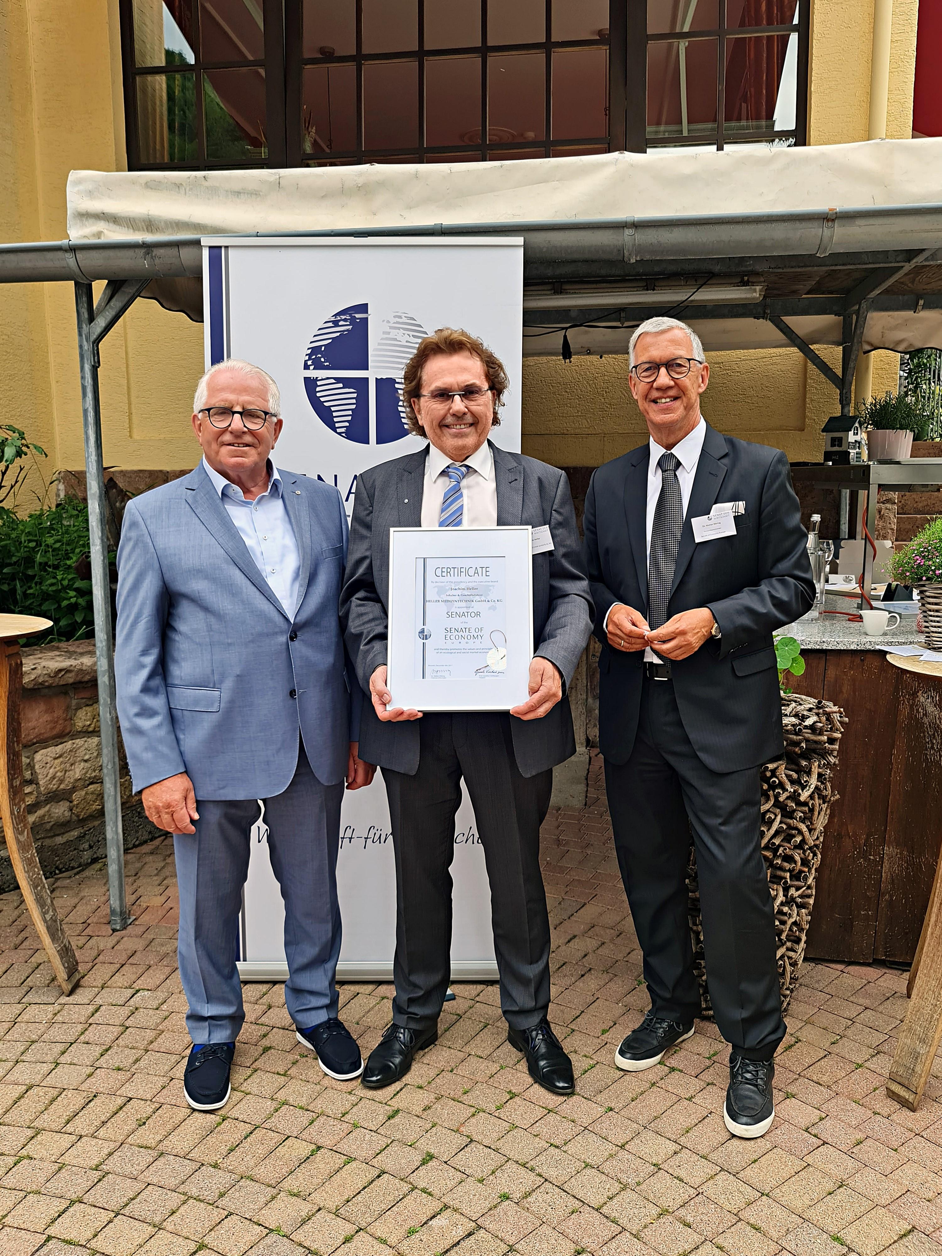 v.l.n.r.: Dieter Härthe, Joachim Heller, Dr. Walter Döring